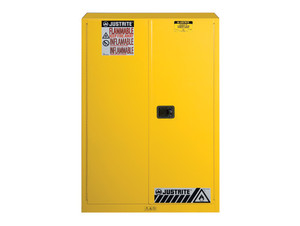 Justrite Sure-Grip® EX Classic Self-Closing 45 Gal Yellow Safety Cabinets For Flammables