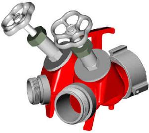 POK 2-Way Flywheel Valve - F2.5NH(NST) - M 1.5 NH(NST)