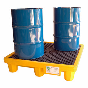 UltraTech International Standard 4 Drum Spill Pallet with Drain