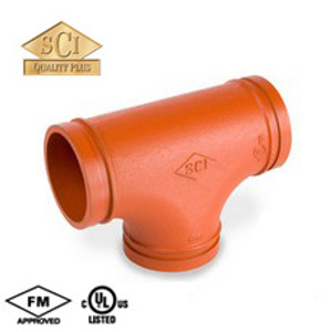 Smith Cooper 1 1/4 in. Grooved Tee - Standard Radius
