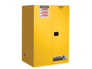 Justrite Sure-Grip® EX Classic Self-Closing 90 Gal Safety Cabinets For Flammables