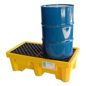 UltraTech International Standard 2 Drum Spill Pallet with Drain