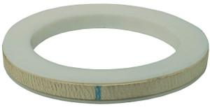Dixon 3 in. PTFE (TFE) Envelope w/ White Nitrile Rubber Filler Cam & Groove Gasket (White / White)
