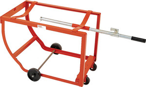 MECO Rock-It Barrel Lift and Drum Stand With 5 in. Polyolefin Wheels & 3 in. Polyolefin Casters