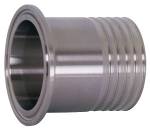 Dixon Sanitary 14MPHR Series 304 Stainless Hose Clamp x Rubber Hose Adapters - 1 in. - 1 in.