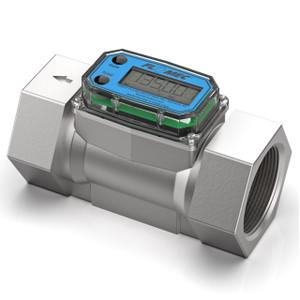 GPI G2 Series 1 in. NPT High Pressure Turbine Flow Meter - Gallons