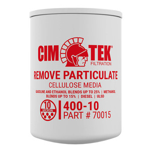 Cim-Tek 70015 10 Micron Particulate Spin-On Fuel Dispenser Filter (400-10)