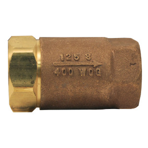 Dixon 1 in. NPT Stainless Steel Domestic Ball Cone Check Valves