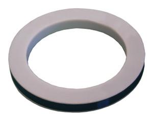 Dixon 4 in. PTFE (TFE) Envelope w/ Nitrile Rubber Filler Cam & Groove Gasket (White / Black)