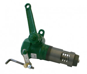 Morrison Bros. 272DLS Series 2 in. x 2 in. Ductile Iron Internal Emergency Valve w/ Shear Section - Threaded, Locking