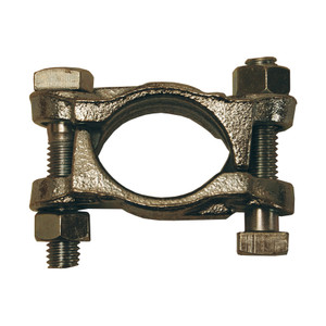 Dixon Plated Iron Double Bolt Clamps w/out Saddles from 3 1/4 in. - 3 1/2 in. Hose OD
