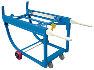 Vestil Deluxe Rotating Drum Cart with 5 in. Poly-On-Steel Wheels