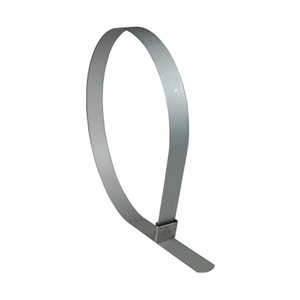 Dixon 3 in. ID Center Punch Galvanized Steel Open End Band Clamp - 50 Qty