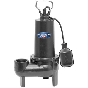 Decko Superior 93507 1/2 HP Cast Iron Sewage Sump Pump w/ Tethered Float Switch w/ 80 GPM