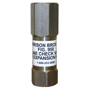 Morrison Bros. Fig. 958B 1 in. BSP In-Line Check Valve w/ Expansion Relief