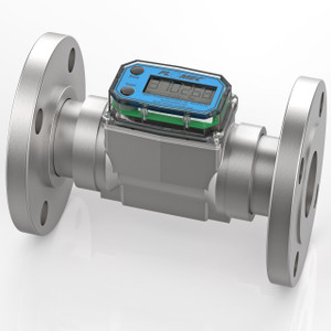 GPI G2 Series 1 1/2 in. ANSI Flange Industrial Stainless Steel Meter - Gallons