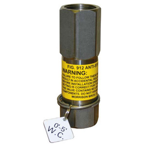 Morrison Bros. 912 Series 1/2 in. NPT Anti-Siphon Valve w/ Expansion Relief - 0-5 Ft. W.C