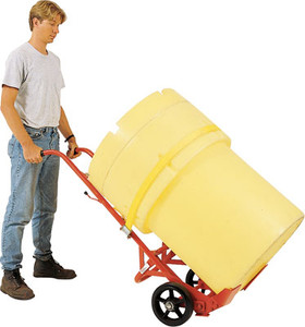 MECO Overpack Poly Drum Truck with 10 in. Rubber Wheels