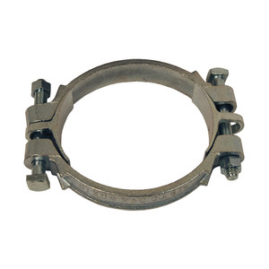 Dixon Plated Iron Double Bolt Clamps w/ Saddles - 5-15/16 in. to 6-1/2 in. Hose OD