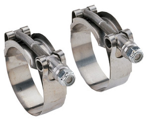 Banjo 3 in. Stainless Steel Super Clamp w/ 3.31 in. to 3.62 in. Diameter