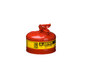 Justrite 7120100 Type I 2 Gallon Safety Gas Can (Red)