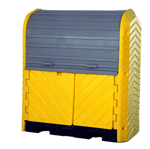 UltraTech International Hard Top Plus Spill Pallet 4 Drum with Drain