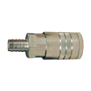 Dixon Air Chief Steel Industrial Coupler 3/8 in. Hose Barb x 1/2 in. Body