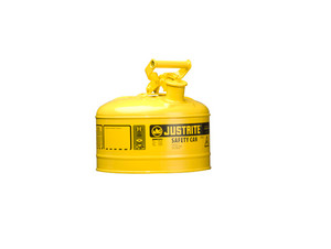 Justrite Type I 2.5 Gal Safety Gas Can (Yellow)