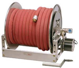 "Hannay FF For Large Booster Hose/Preconnected Collapsible Hose - 100 ft - 75 ft - 150 ft - 75 ft - Aluminum ""Super Booster"", 12V"