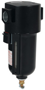 Dixon Wilkerson 1/4 in. F26 Standard Filter with Metal Bowl & Sight Glass - Manual Drain