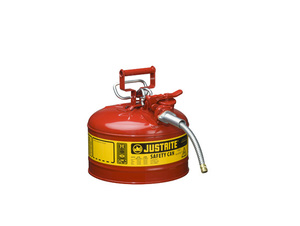 Justrite Type II AccuFlow 1 Gal Safety Gas Can w/ 5/8 in. Spout (Red)