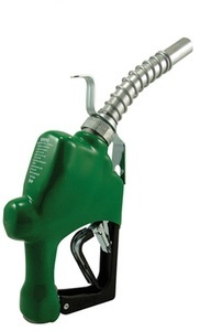 Husky 1 in. Diesel Automatic Shut-Off Farm Nozzle - Leaded/Auto-diesel - Green