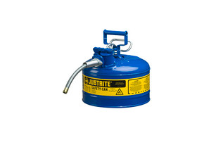 Justrite 7210320 Type II AccuFlow 1 Gallon Safety Gas Can w/ 5/8 in. Spout (Blue)