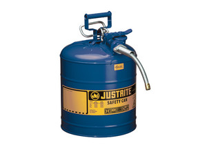 Justrite 7250320 Type II AccuFlow 5 Gallon Safety Gas Can w/ 5/8 in. Spout (Blue)