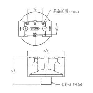 Cim-Tek 50163 1 1/2 in. NPT Aluminum Single Adapter for 40 and 800 Series Filters