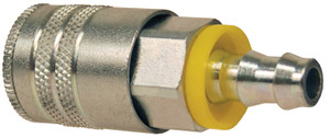 Dixon Air Chief Steel Industrial Coupler 3/8 in. Push-On Hose Barb x 3/8 in. Body