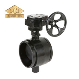 Smith Cooper 10 in. Gear Operator Butterfly Valve w/EPDM Seals & EPDM Coated Disc, Grooved End
