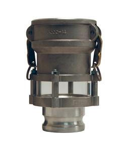 Dixon 3 in. x 3 in. Aluminum Coupler x Adapter In-Line Sight Glass