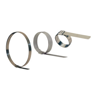 Dixon 1/2 in. Band Width Stainless Steel Smooth 1 1/4 in. ID Clamp - 100 QTY