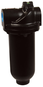 Dixon Wilkerson 1 1/2 in. F35 Heavy Duty Jumbo Filter with Metal Bowl - Manual Drain