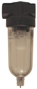 Dixon Series 1 F07 1/8 in. Mini Filter with Transparent Bowl - Manual Drain - 19 SCFM