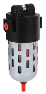 Dixon Wilkerson 1/4 in. M16 Coalescing Filter with Transparent Bowl & Guard - Manual Drain