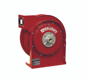 Reelcraft 1/4 in. x 25 ft. 4400 OLP Premium Duty Spring Retractable Air/Water Hose Reel - Reel Only