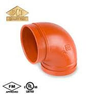 Smith Cooper 4 in. Grooved 90° Elbow - Short Radius