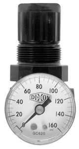 Dixon Series 1 R07 1/4 in. Mini Regulator With Gauge