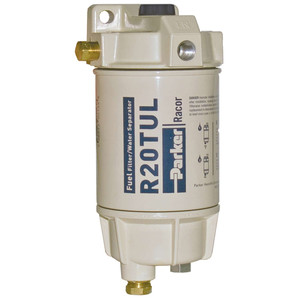 Racor 1/4 in. 30 GPH Aquabloc Marine Spin-On Type Diesel Fuel Filter Water Separator Assembly - 6 Qty