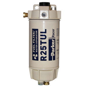 Racor 1/4 in. 45 GPH Aquabloc Marine Spin-On Type Diesel Fuel Filter Water Separator Assembly - 6 Qty