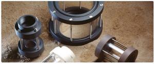 Plast-O-Matic 1/2 in. Polypropylene Series GX Single Wall Threaded Sight Flow Glasses
