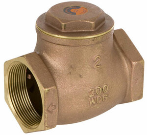 Smith Cooper 1 1/4 in. NPT Threaded Lead Free Brass 200 WOG Check Valve