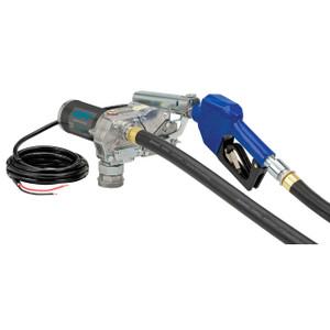 GPI M-180S 12V DC Fuel Transfer Pump w/ Auto Nozzle - 18 GPM